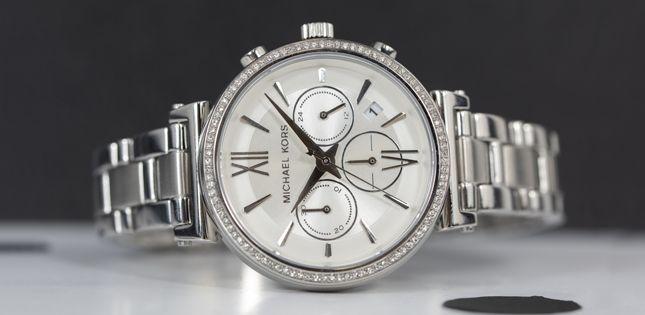 Reloj cronógrafo plateado Michael Kors