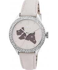 Radley RY2205 correa de cuero de las señoras crema reloj con piedras