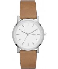 DKNY NY2339 Damas soho reloj de la correa de cuero marrón