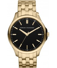 Armani Exchange AX2145 el oro negro de los hombres del reloj plateado vestido de pulsera