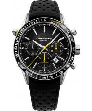 Raymond Weil 7740-SC1-20021 profesional independiente para hombre de cuero negro reloj cronógrafo