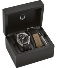 Bulova 96B251 Reloj lunar piloto cronógrafo reloj regalo conjunto