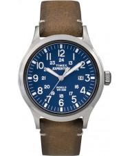 Timex TW4B01800 Mens expedición analógico reloj correa de cuero tan elevado