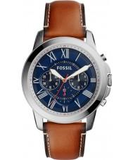 Fossil FS5210 Mens conceden reloj cronógrafo marrón
