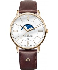 Maurice Lacroix EL1108-PVP01-112-1 Mens Eliros reloj de la correa de cuero marrón