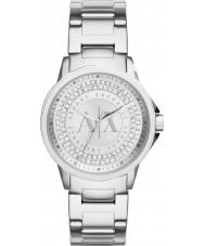 Armani Exchange AX4320 Las señoras de plata urbana reloj piedra conjunto