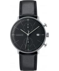 Junghans 027-4601-00 Max Bill cronoscopio negro reloj automático