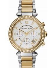 Michael Kors MK5626 Damas Parker reloj cronógrafo de acero de dos tonos
