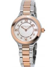 Frederique Constant FC-200WHD1ER32B Señoras clásicas delicias de reloj de pulsera de acero de dos tonos