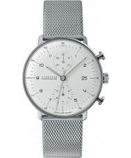 Junghans 027-4003-44 Max Bill cronoscopio plata reloj automático