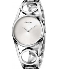 Calvin Klein K5U2M146 Las señoras redondas reloj de pulsera de acero de plata