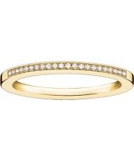 Thomas Sabo Damas de glamour y alma de oro amarillo anillo de diamantes
