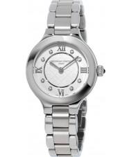 Frederique Constant FC-200WHD1ER36B Señoras clásicas delicias de reloj de pulsera de acero de plata