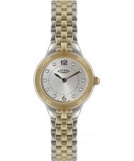 Rotary LB02762-59 Relojes de plata y rosa reloj de oro