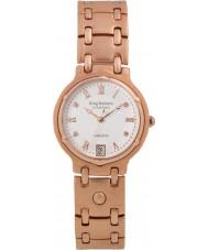 Krug-Baumen 5116RDM Charleston 4 diamantes rosa, correa de oro esfera de oro