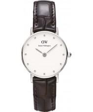 Daniel Wellington DW00100069 Las señoras con clase York reloj de plata de 26 mm