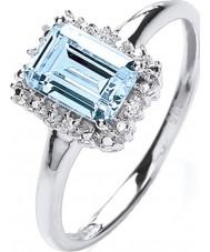 Purity 925 PNC2020-2 Señoras de plata de ley 925 anillo de plata con topacio circonio cúbico