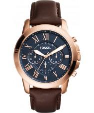 Fossil FS5068 Mens conceden reloj cronógrafo marrón