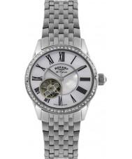 Rotary LB90510-41 Damas les originales del reloj automático de plata