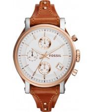 Fossil ES3837 Damas novio originales reloj cronógrafo marrón