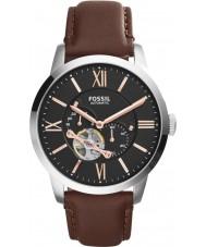 Fossil ME3061 cuero marrón reloj automático para hombre del hombre de la ciudad