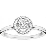 Thomas Sabo D-TR0008-725-14-54 Damas Glam y el alma de ley 925 anillo de diamantes de plata - tamaño o (UE 54)