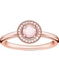 Thomas Sabo D-TR0009-925-9-52 Las señoras glamour y alma chapado en oro rosa anillo de diamantes - M.5 tamaño (UE 52)