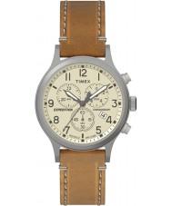 Timex TW4B09200 reloj de la correa de cuero marrón para hombre de expedición