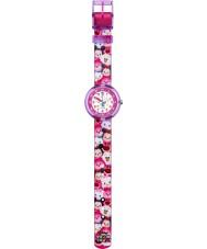 Flik Flak FLNP026 reloj correa de tela multicolor tsum chicas Disney tsum