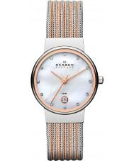 Skagen 355SSRS Damas klassik reloj de acero de dos tonos
