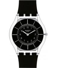 Swatch SFK361 Piel - reloj negro classiness