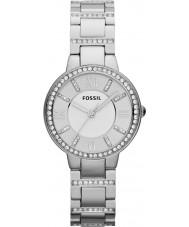 Fossil ES3282 Las señoras Virginia reloj de acero de plata