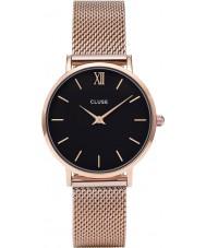Cluse CL30016 reloj de señoras de malla minuit