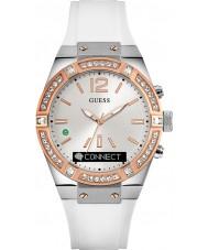 Guess Connect C0002M2 reloj inteligente correa de silicona blanca