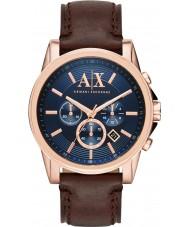 Armani Exchange AX2508 azul reloj cronógrafo vestido de color marrón oscuro de los hombres