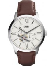 Fossil ME3064 cuero marrón reloj automático para hombre del hombre de la ciudad