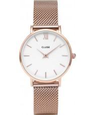 Cluse CL30013 reloj de señoras de malla minuit
