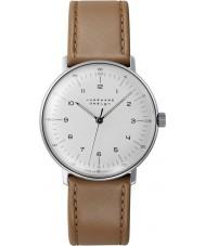 Junghans 027-3701-00 Max Bill Handwinding moreno marrón reloj mecánico