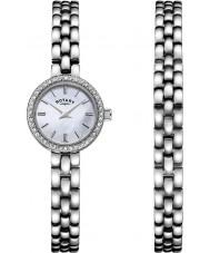 Rotary LB00017-BRS-07S Señoras reloj conjunto de regalo