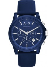 Armani Exchange AX1327 reloj cronógrafo azul del silicón del deporte