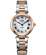 Rotary LB90187-41 Damas les originales de alfalfa reloj de pulsera de acero de dos tonos