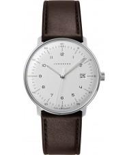 Junghans 041-4461-00 Max Bill de cuero marrón reloj de la correa