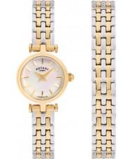 Rotary LB00173-BR-40S Señoras reloj conjunto de regalo