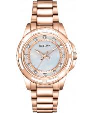 Bulova 98S141 Damas se levantaron reloj pulsera chapado en oro
