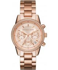 Michael Kors MK6357 Damas Ritz chapado en oro rosa reloj cronógrafo