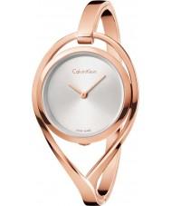 Calvin Klein K6L2M616 Señoras de la luz chapado en oro rosa reloj del brazalete