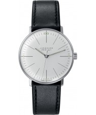 Junghans 027-3700-00 Max Bill Handwinding negro reloj mecánico