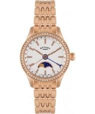 Rotary LB02854-01 Relojes de beaumont fase lunar rosa reloj de oro