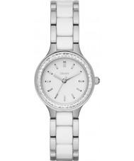 DKNY NY2494 Señoras cámaras blancos reloj de acero enlaces cerámicos
