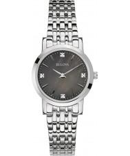 Bulova 96S148 Señoras de la galería de diamante de acero de plata reloj pulsera